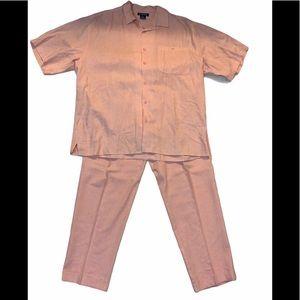 Trust Men's Two-Piece Linen Pants Suit
